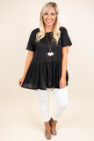 Keep Things Casual Tunic, Black