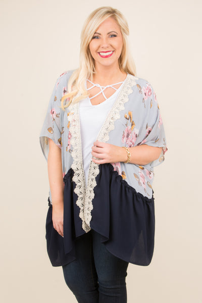 kimono, shawl, flowy, outer-layer, oversized, layer, florals, crochet, silver