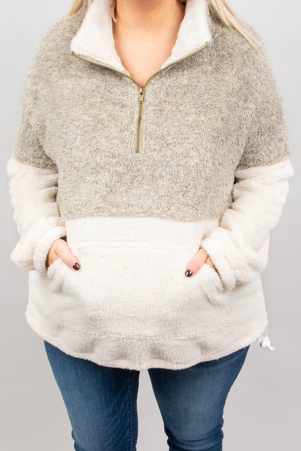 Cozy Weekend Pullover, Oatmeal