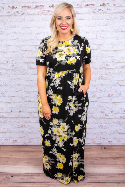 Go About The Day Maxi Dress, Black