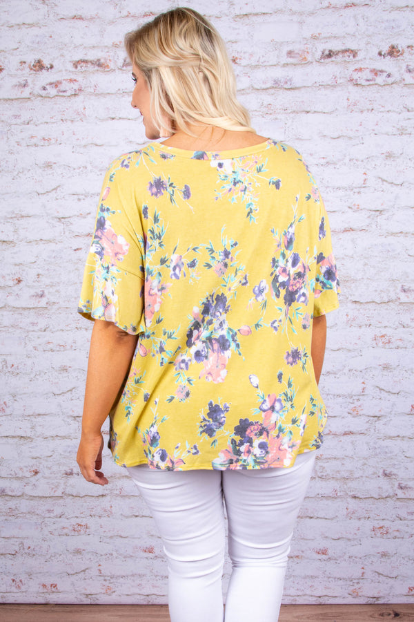 Fresh Effect Top, Yellow