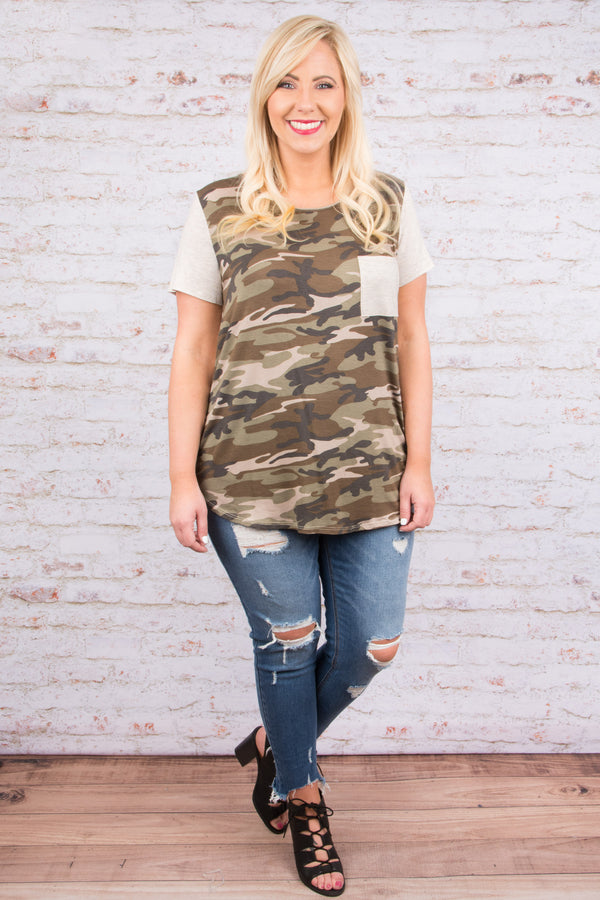 Simple As That Tee, Olive