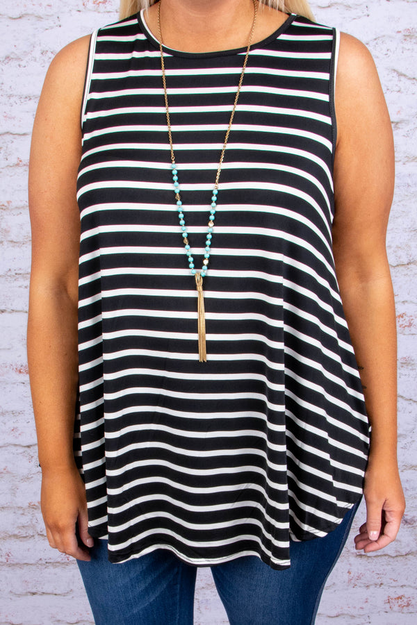 The Brinley Tank, Black-Ivory