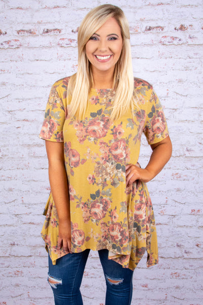On A Mission Tunic, Mustard