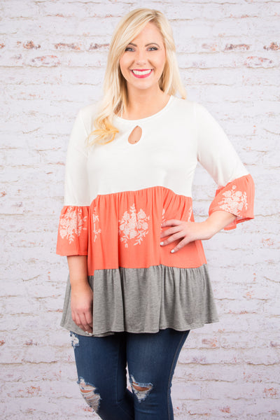 New Chances Tunic, Coral
