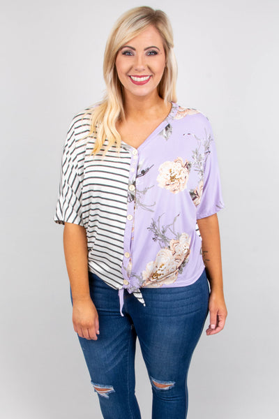 Brunch Date Top, Lavender