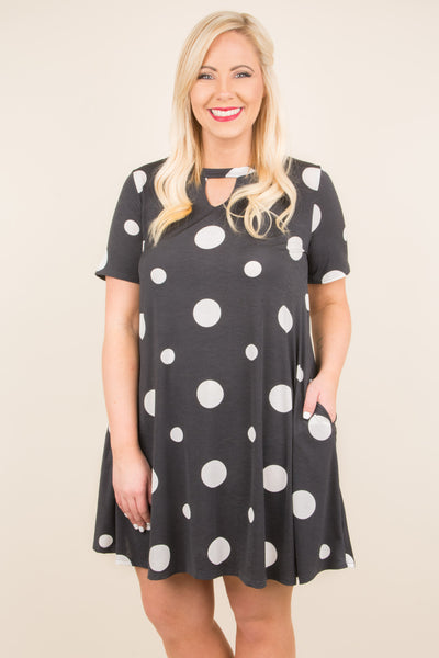 Follow The Dots Dress, Black