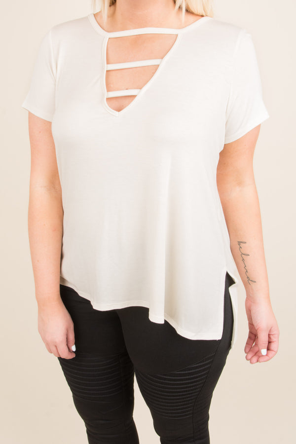Queen Of The Weekend Top, Ivory