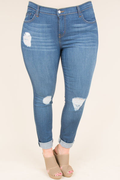 Break Some Hearts Skinny Jeans, Blue