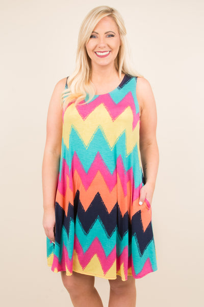 Live Colorfully Dress, Multi