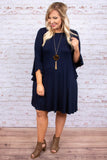 Dramatic Entrance Dress, Navy