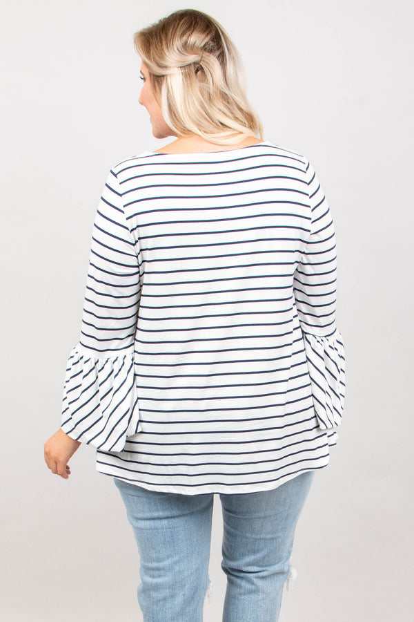 Best Advice Top, Off White-Navy