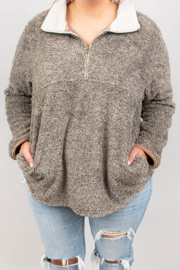 Cozy Does It Pullover, Mocha
