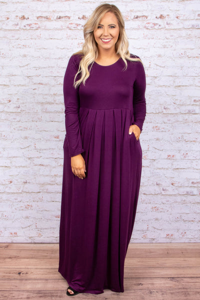 In My Prime Maxi Dress, Dark Plum