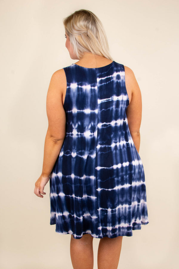 Summer Escape Dress, Navy