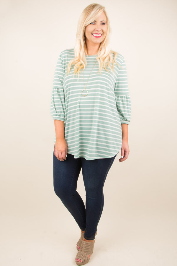 Striped With Love Top, Mint