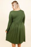 Turn Of Events Dress, Green