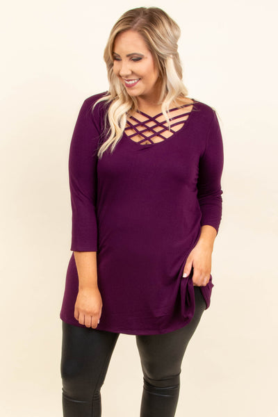 Good Heart Top, Dark Plum