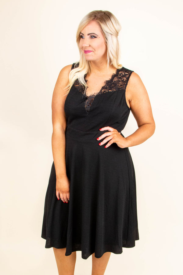 Date Night Done Right Dress, Black