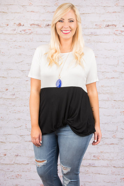 Fun And Fearless Top, Black-White