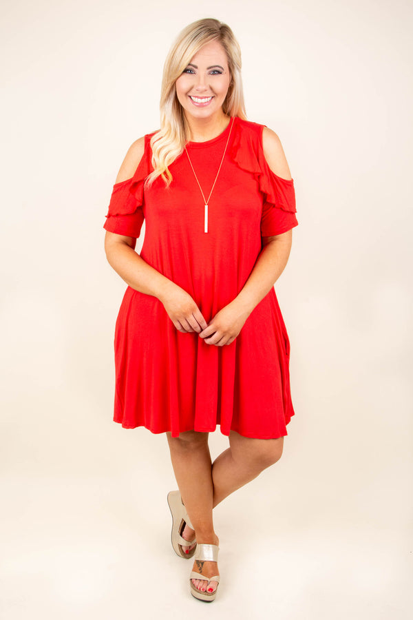 At Ease Dress, Red
