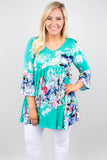 Forever Floral Tunic, Mint