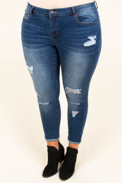 Know The Drill Skinny Jeans, Dark Wash