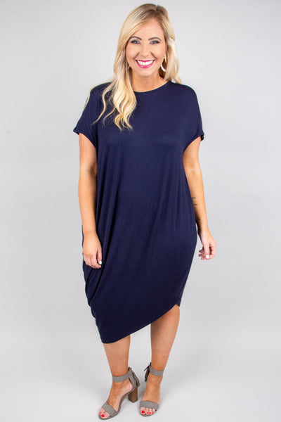 Scene Stealing Maxi Dress, Navy