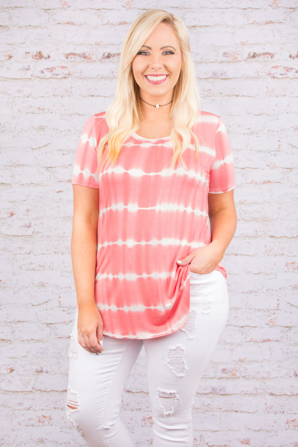Watch the Sunset Tee, Coral