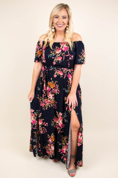 Picked By You Maxi Dress, Navy
