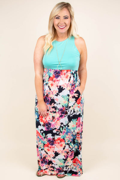 Swooning Over You Maxi Dress, Mint