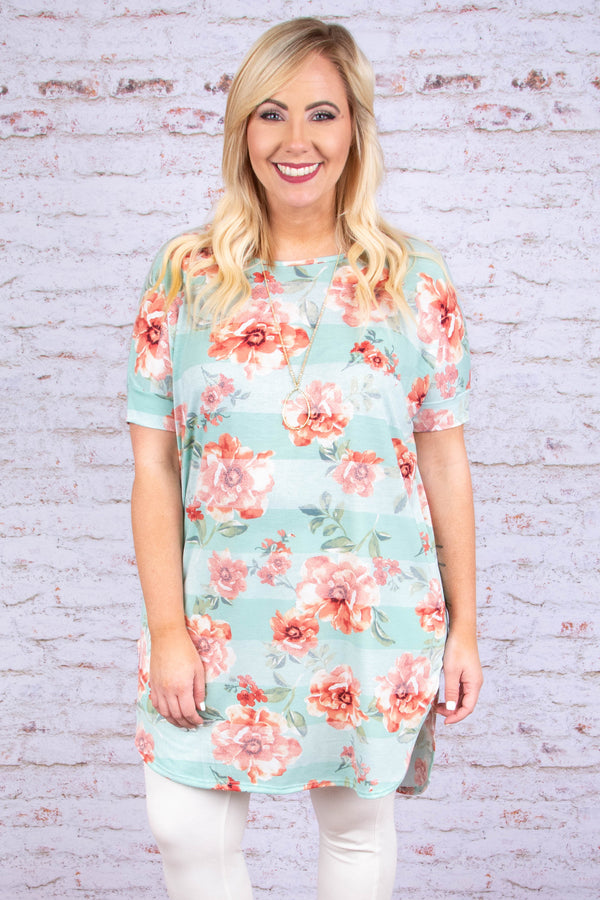 Far Away Love Tunic, Mint