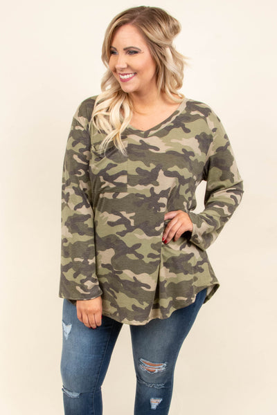 Fall Right Back Tunic, Green