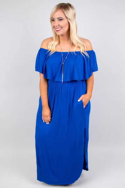 By The Boardwalk Maxi Dress, Cobalt