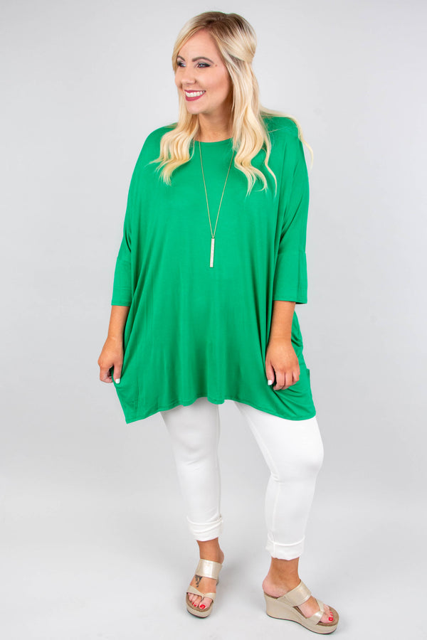 Happy As Ever Tunic, Kelly Green