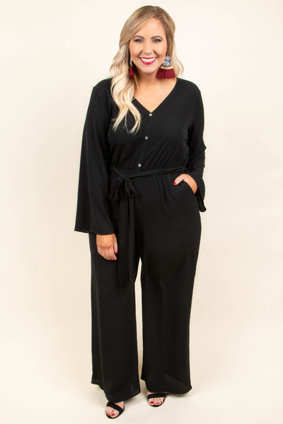 Let Yourself Fall Jumpsuit, Black