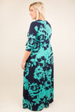 Beneath The Palms Maxi Dress, Navy-Mint