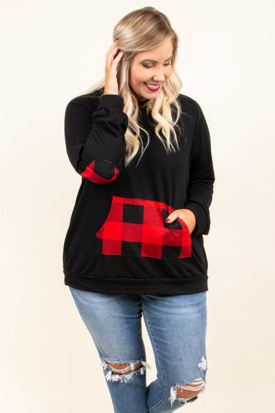 Keeping Warm Pullover, Black