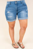 Think Happy Shorts, Medium Wash