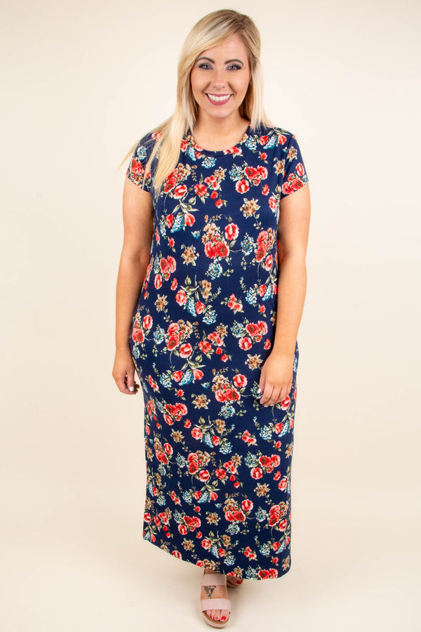 What's Going On Maxi Dress, Navy