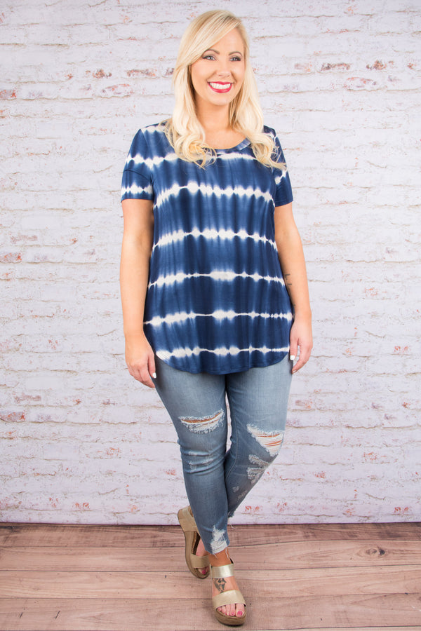 Clear Waters Top, Navy