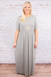 Always Enchanting Maxi Dress, Gray