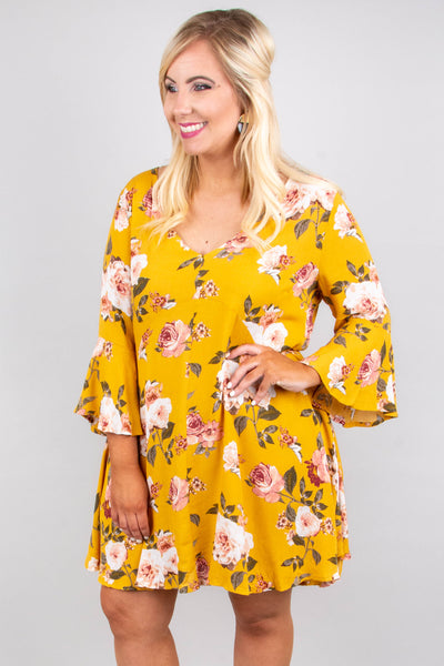 Southern Delight Dress, Mustard