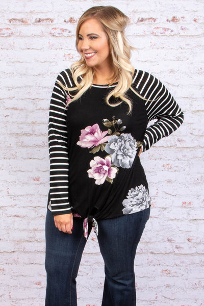 Believe In Happiness Top, Black