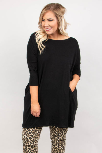 Stay In My Zone Tunic, Black