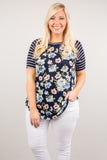 Spring Forward Top, Navy