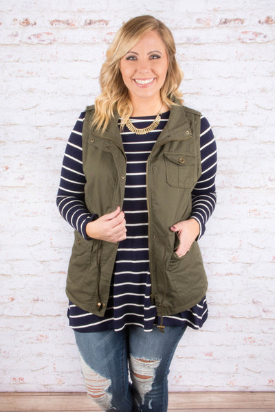 Living On the Edge Vest, Olive