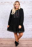 Wander My Way Dress, Black