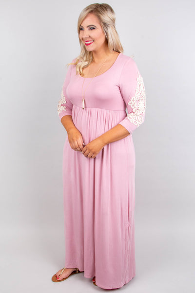 Elegant Expectations Maxi Dress, Dusty Pink