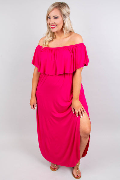 By The Boardwalk Maxi Dress, Fuchsia